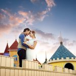 Castle couple in love beautiful wallpaper