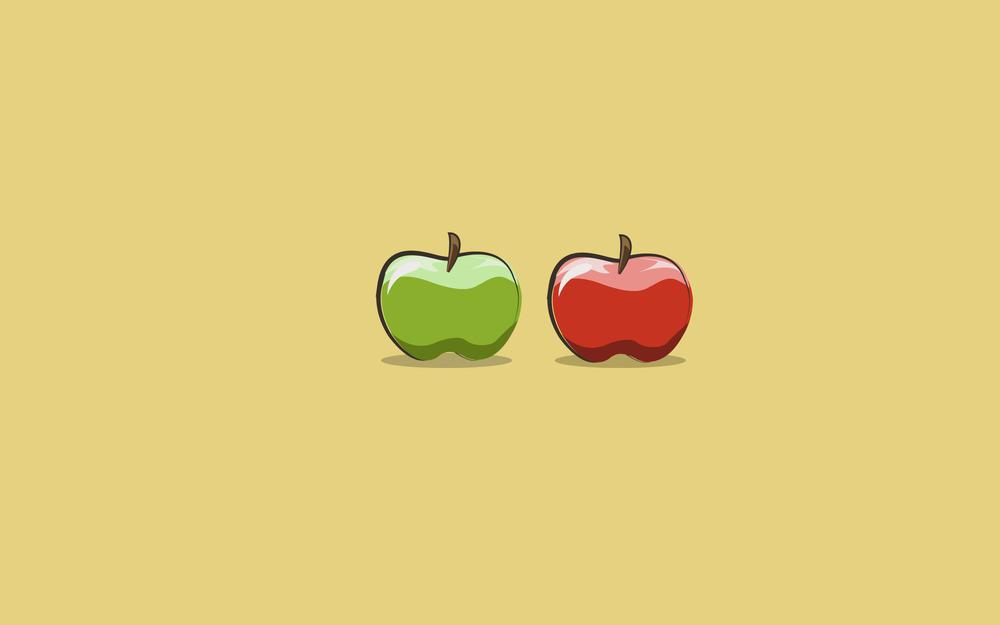 Green, red, apples wallpaper