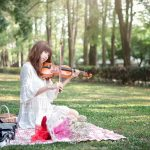 Asian, music, violin, girl