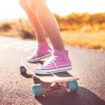 Summer, sunny, sneakers, skateboard