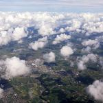Clouds, view from above, houses