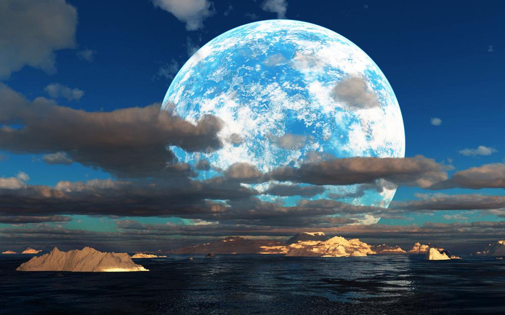 Moon beautiful scenery hd wallpaper