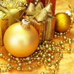 Christmas, decoration, christmas, decorations, merry, gold