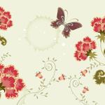 Butterfly, background, color