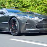 Gray, road, aston martin