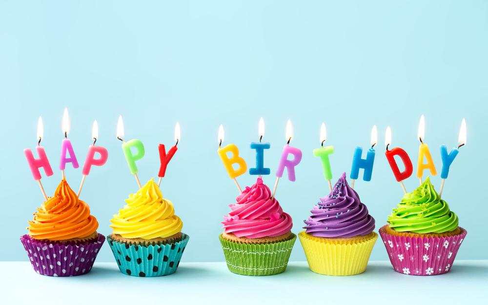 Cream, cupcake, decoration, celebration, cake, candle, cream, happy birthday, rainbow, birthday, colours, colorful, cupcakes