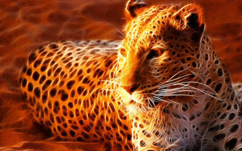 Stains, fire, sand, lying, leopard