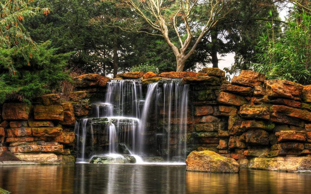 Hd landscape waterfall landscape wallpaper pictures