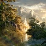 Fairyland forest landscape desktop wallpaper