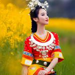 Minority beauty, dress clothes, chinese style wallpaper