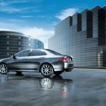 Tsx, reflection, buildings, 2006, side view, acura, cars, wet asphalt, style, metallic gray wallpaper