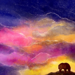 Bear, art, colorful desktop background