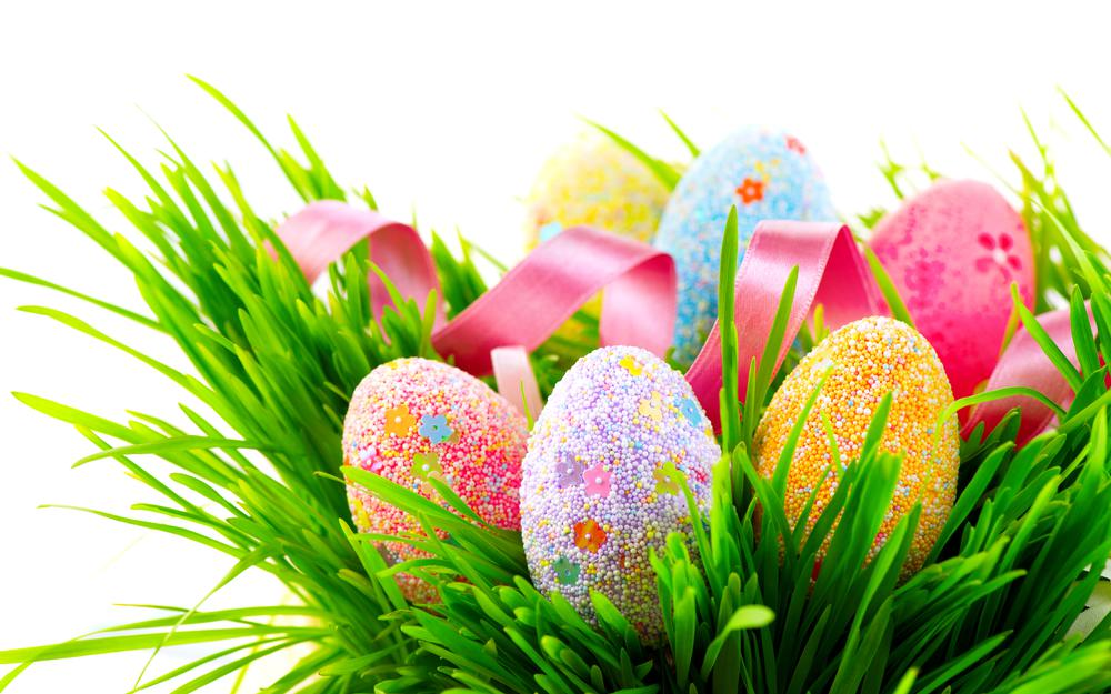 Decor, holidays is, multicolored, colorful, easter, eggs, ribbon, eggs, spring