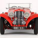 Front view, style, aston martin, red, 1937, cars
