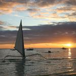 Sailing at sea sunset beautiful wallpaper