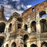 Italy, colosseum, people