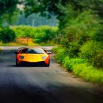 Summer road, lamborghini wallpaper