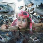 Fish, girl, the situation