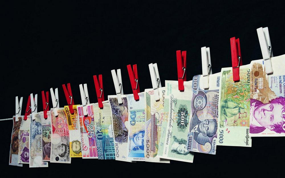 Money currency pegs rope