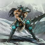 King of barbarians – tryndamere hd wallpaper
