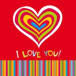 Colorful, i love you, love, hearts, sweet, background