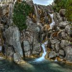 Rocks flowing water hd landscape wallpaper