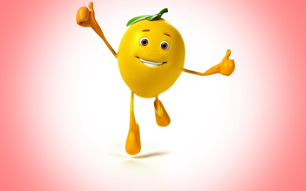 Lemon cheerful smile