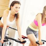 Fixed bicycle, workout, women