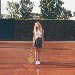 Tennis, legs, skirt, racket, summer