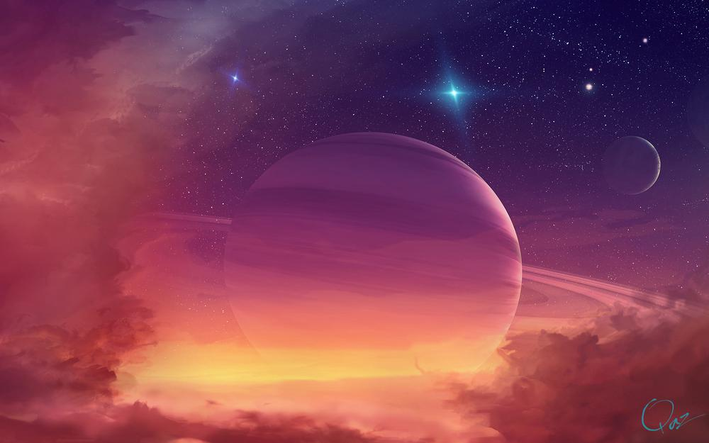 Glowing planet