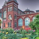 Flowers, trees, summer, building, style