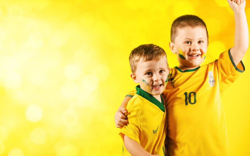 Children, football, fans, fifa, brasil