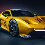 Pininfarina fittipaldi ef7 yellow supercar 2k wallpaper