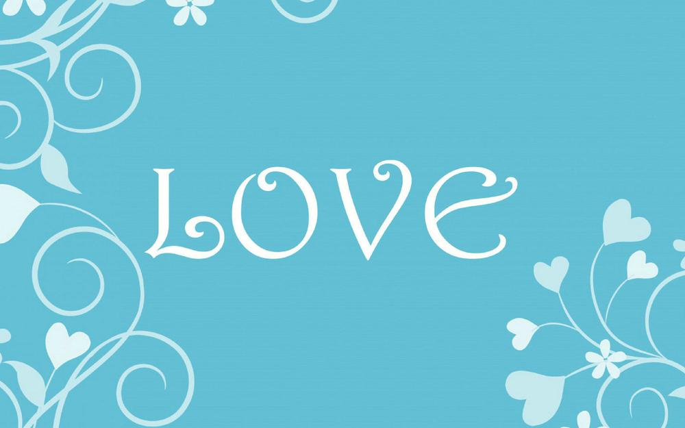 Simple love desktop background