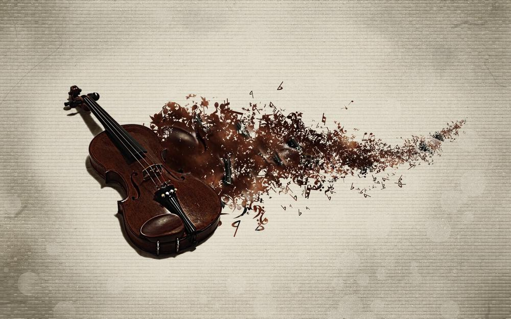 Violin, track, music, background, music, musical instrument