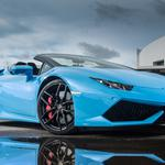 Lamborghini lp 610 4 blue supercar wallpaper