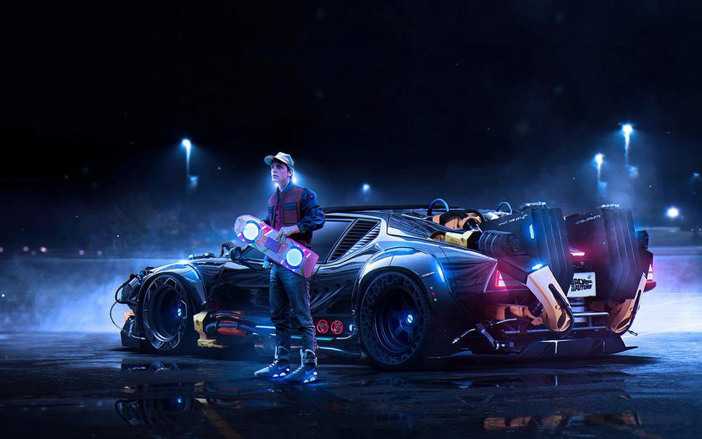 Car, marty mcfly, back to the future, back to the future