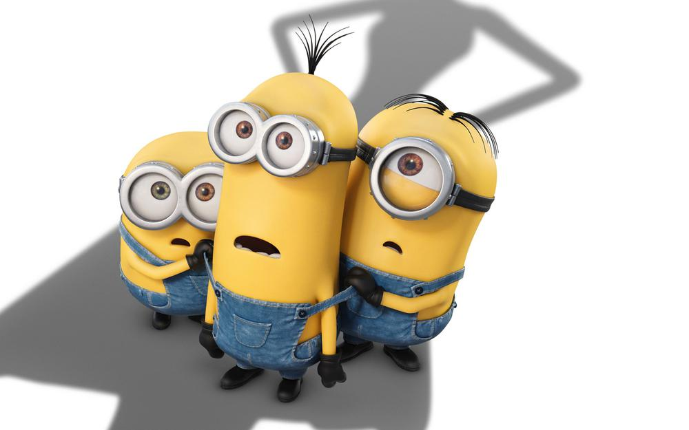 Small yellow people movie, curious, surprised, adorable, expression, little yellow man wallpaper