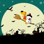 Little embarrassing bear happy halloween night wallpaper