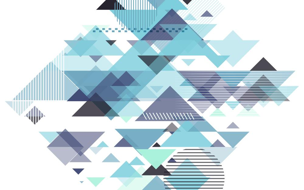 Background, geometry, triangle, with, blue, abstract, abstraction, design, geometric