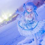 Barbie doll, goddess, cute girl, mood, winter, snow, wallpaper