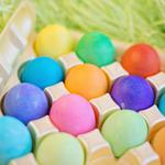 Eggs, easter, colorful