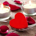 Love, candle, heart, male wallpaper