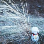 Toy, grass, christmas, new year, snowman wallpaper