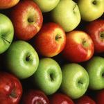 Green, apples, red, yellow wallpaper