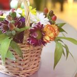 Gently, basket with flowers, flowers