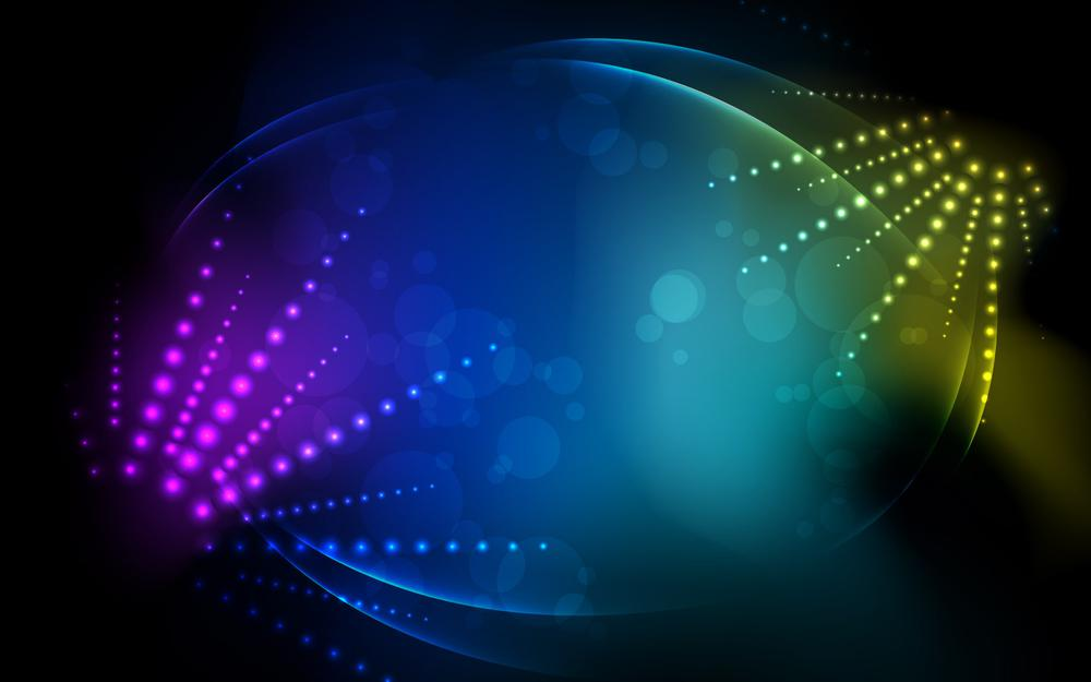Abstract, lines, circles, dark background, colors,