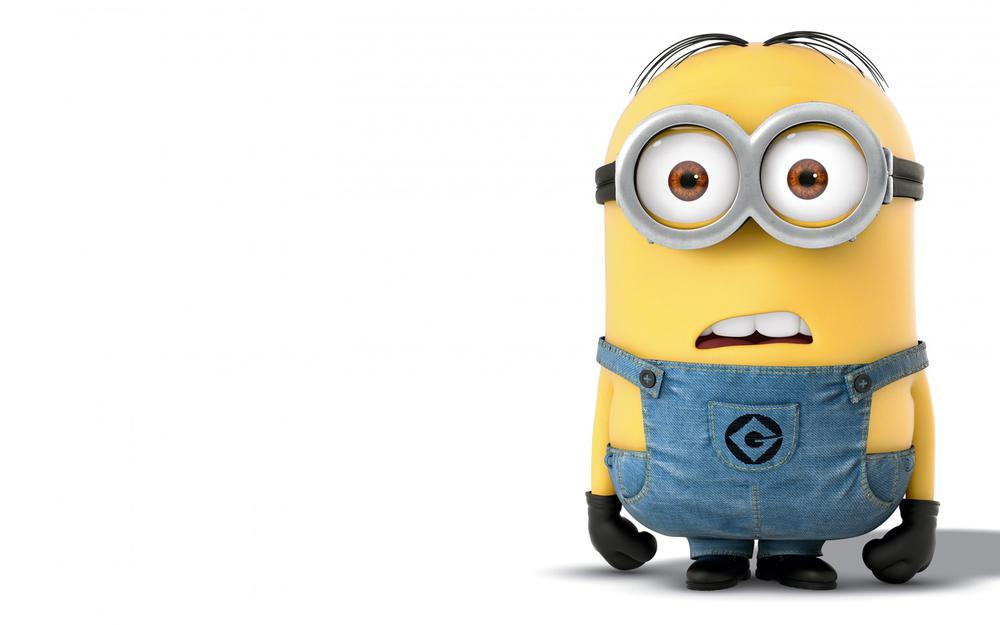 Small yellow people, gesture, surprise, funny face, mouth shape, wallpaper