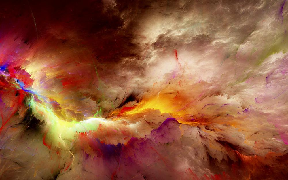 Abstract, unreal, background, clouds, space, colors, clouds
