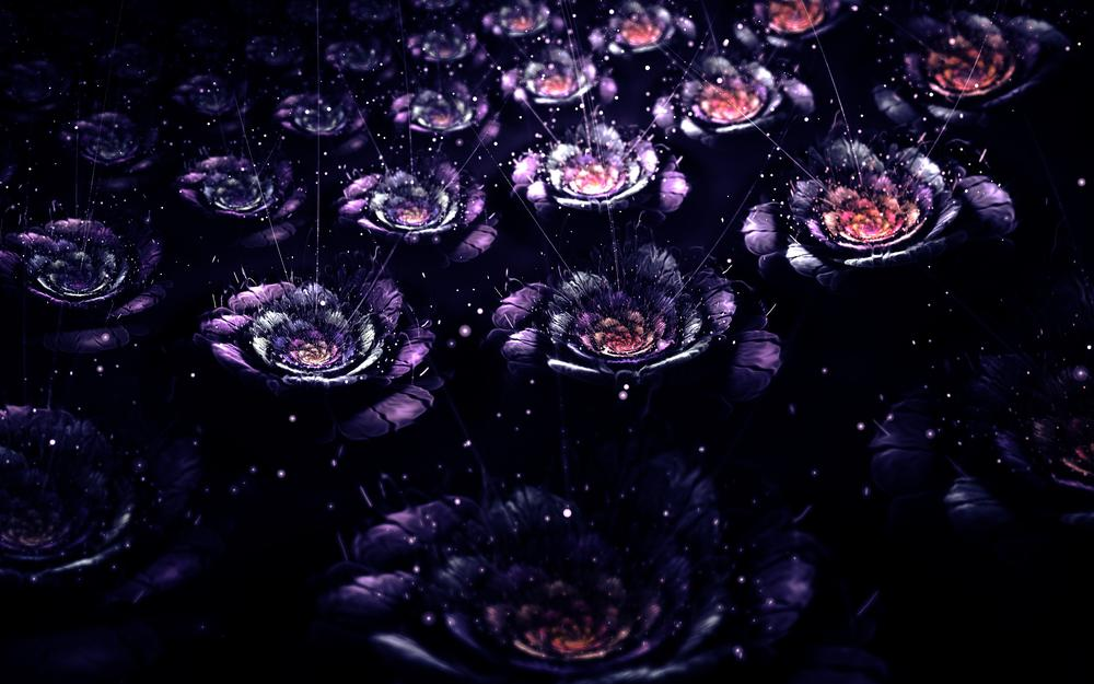 Fractal, placer, abstraction, flowers